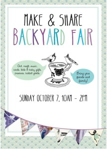 Make and share backyard fair