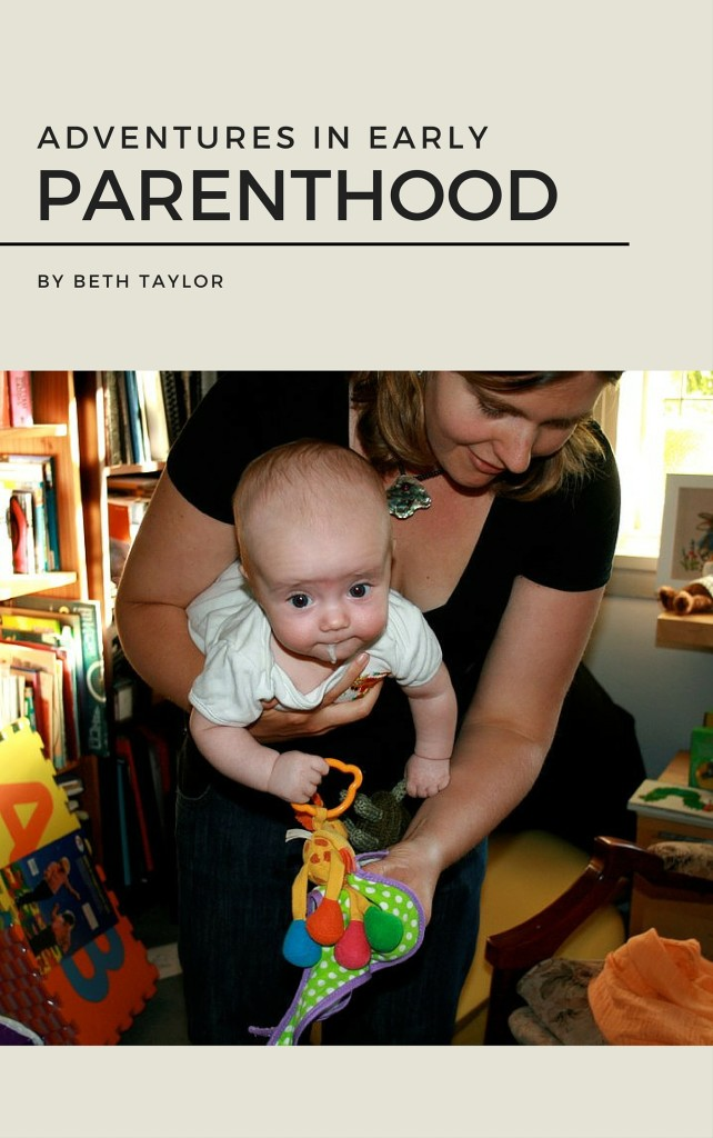 Adventures in early parenthood cover mockup